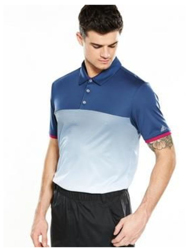 Adidas Golf Climachill Gradient Stripe Polo
