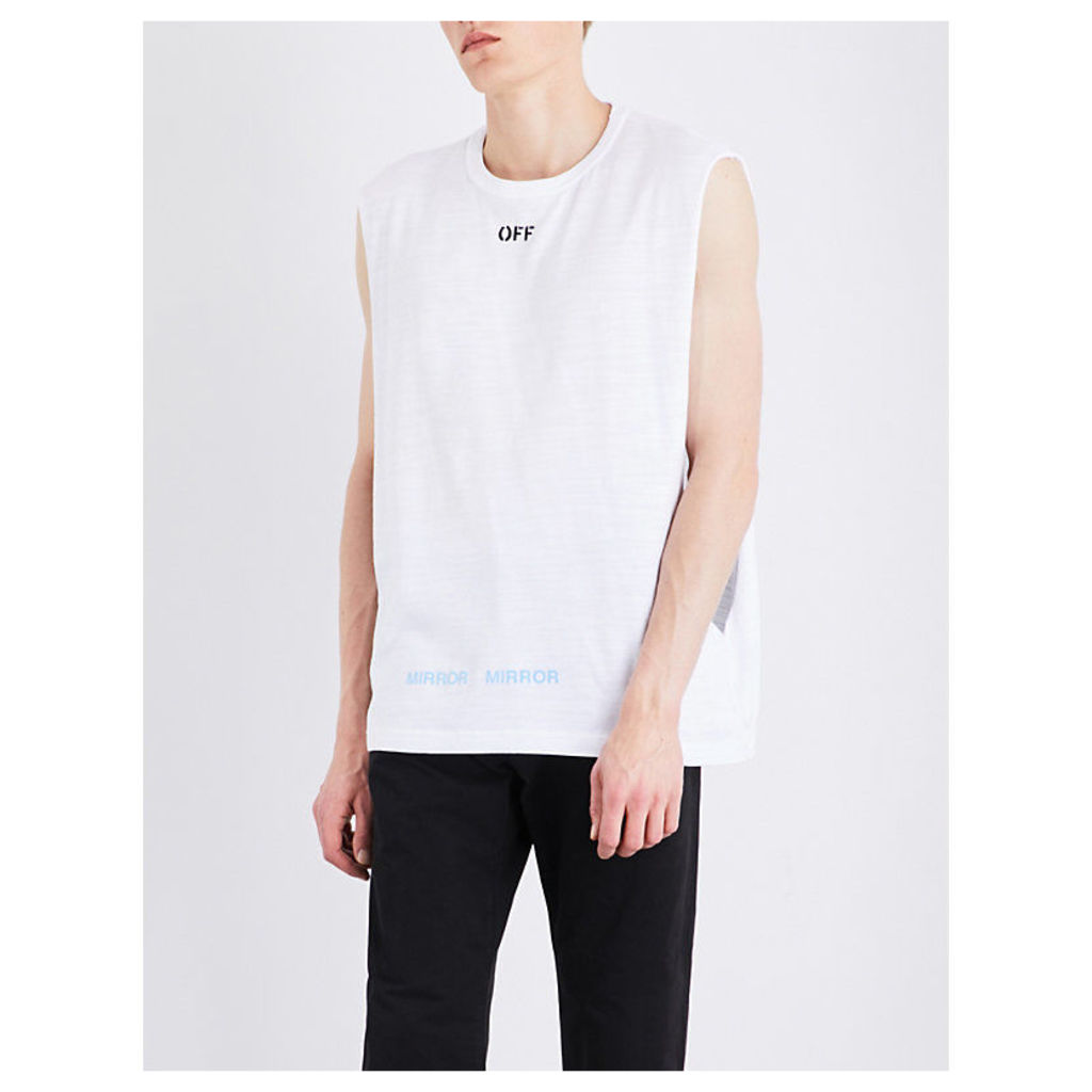 Care Off cotton-jersey top
