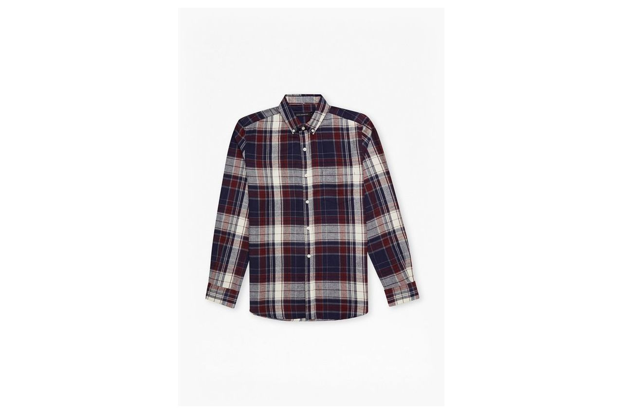 Checked Flannel Shirt  - blue 5740
