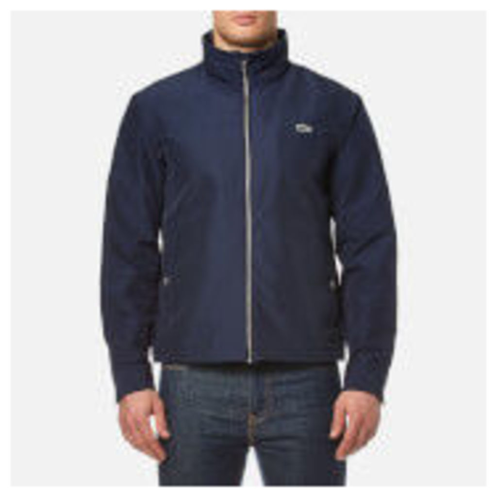 Lacoste Men's Zipped Rain Jacket - Navy