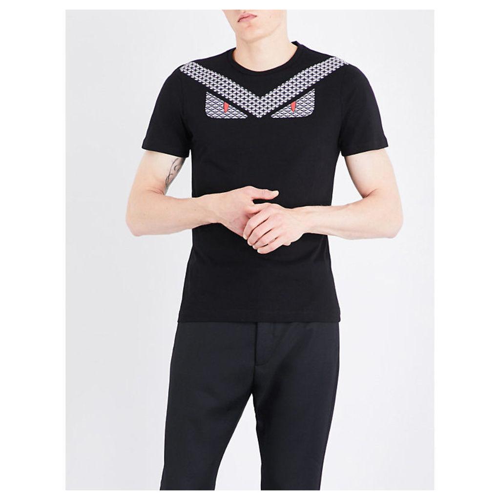 Monster-print cotton-jersey T-shirt