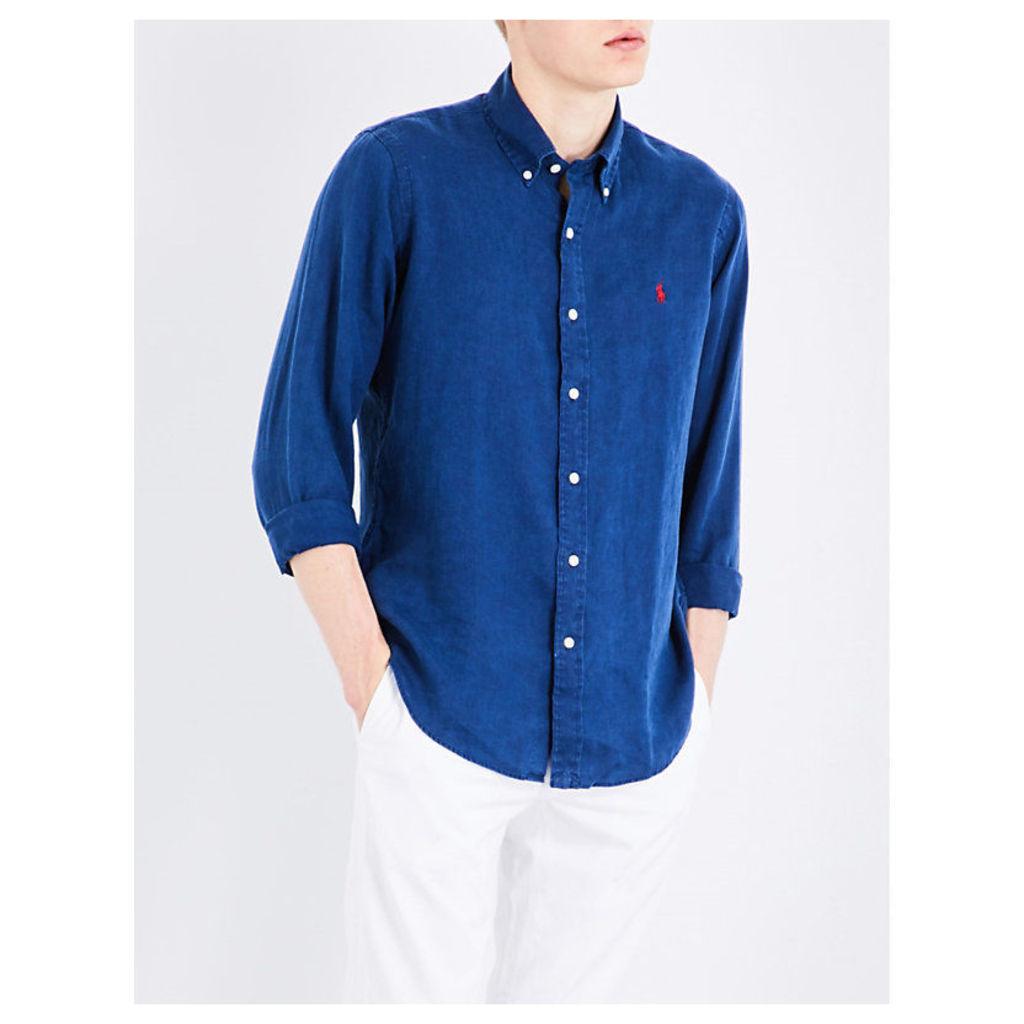 Standard-fit linen shirt