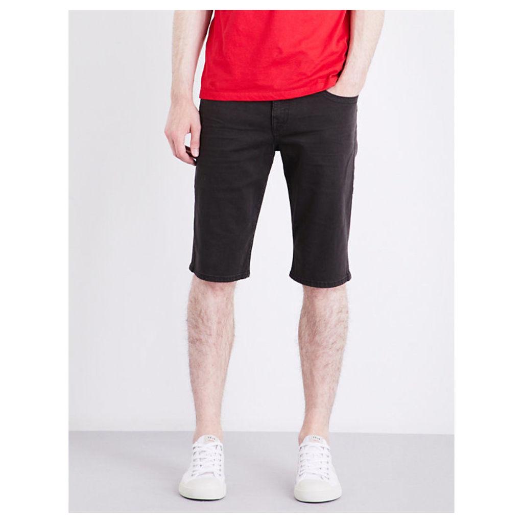 Geno straight-leg mid-rise stretch-denim shorts
