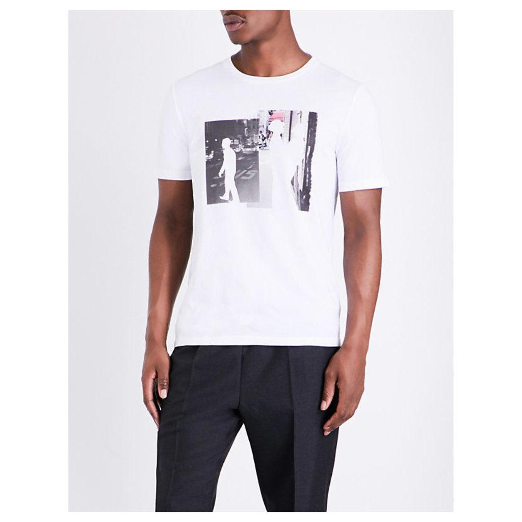 Maison Margiela Collage-print cotton T-shirt, Mens, Size: 42, White