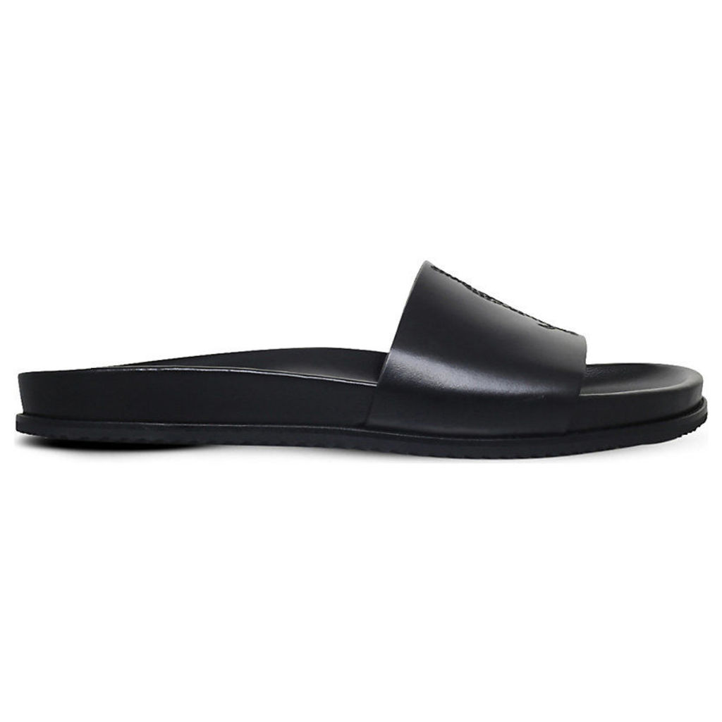 Saint Laurent Jimmy leather pool slides, Mens, Size: EUR 42 / 8 UK MEN, Black