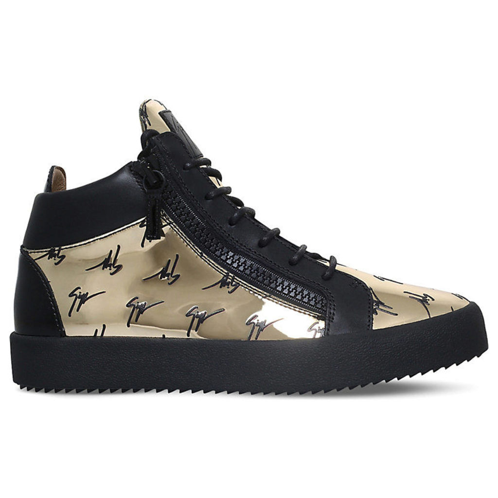 The Signature patent leather trainers