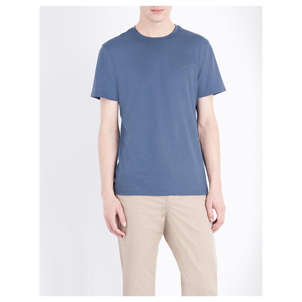 Michael Kors Crewneck cotton-jersey T-shirt, Mens, Size: XXL, Kelp