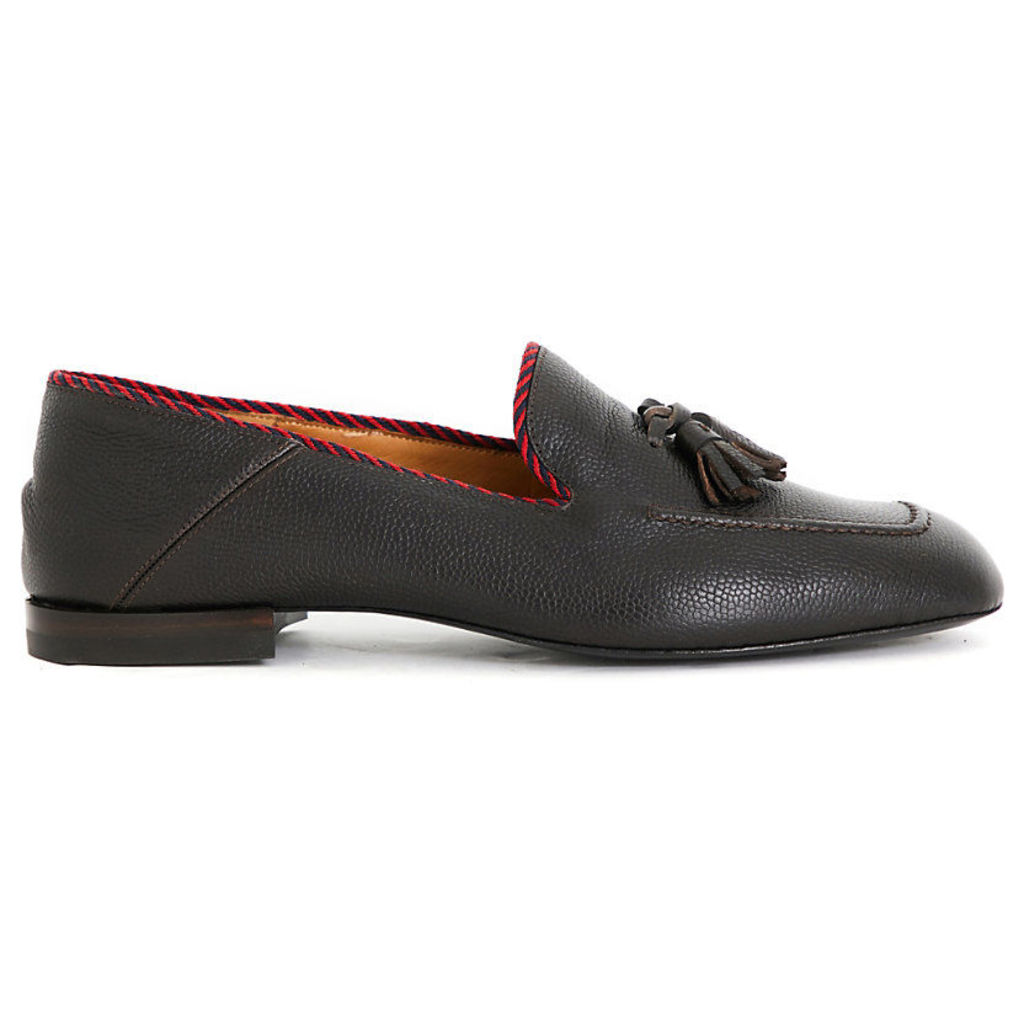 Gucci Valentin leather moccasins, Mens, Size: EUR 41 / 7 UK MEN, Dark brown