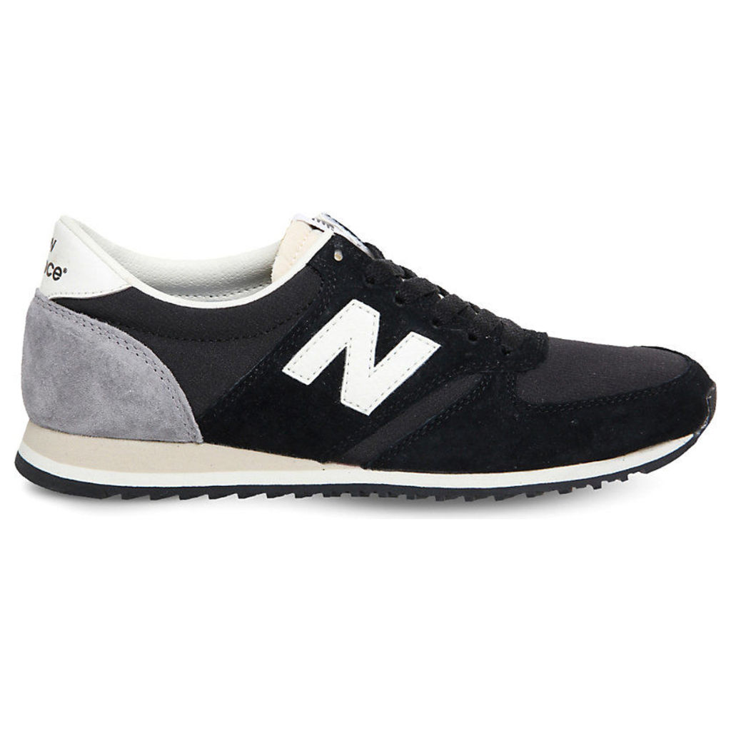 New Balance U420 suede and mesh trainers, Mens, Size: 7, New black white