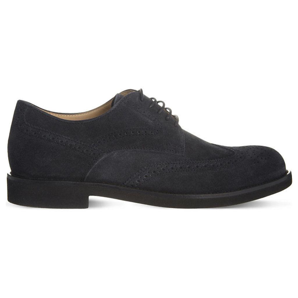 Tods RS Lite suede Derby shoes, Mens, Size: EUR 40 / 6 UK MEN, Navy