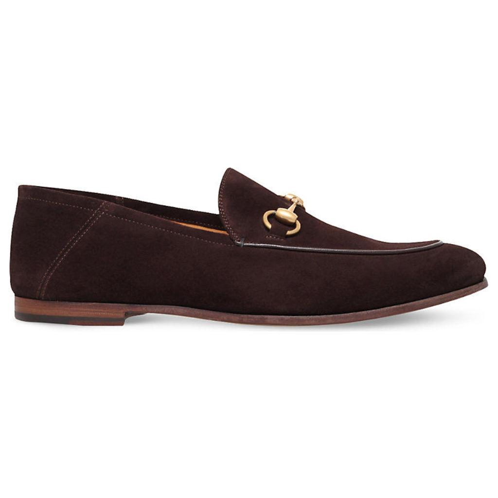 Gucci Brixton suede moccasins, Mens, Size: EUR 43.5 / 9.5 UK, Dark brown