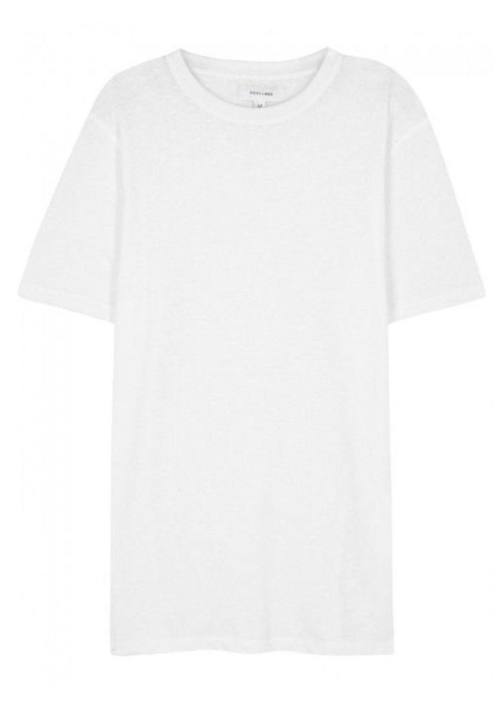 Soulland Airwrecka White Cotton Blend T-shirt - Size XL