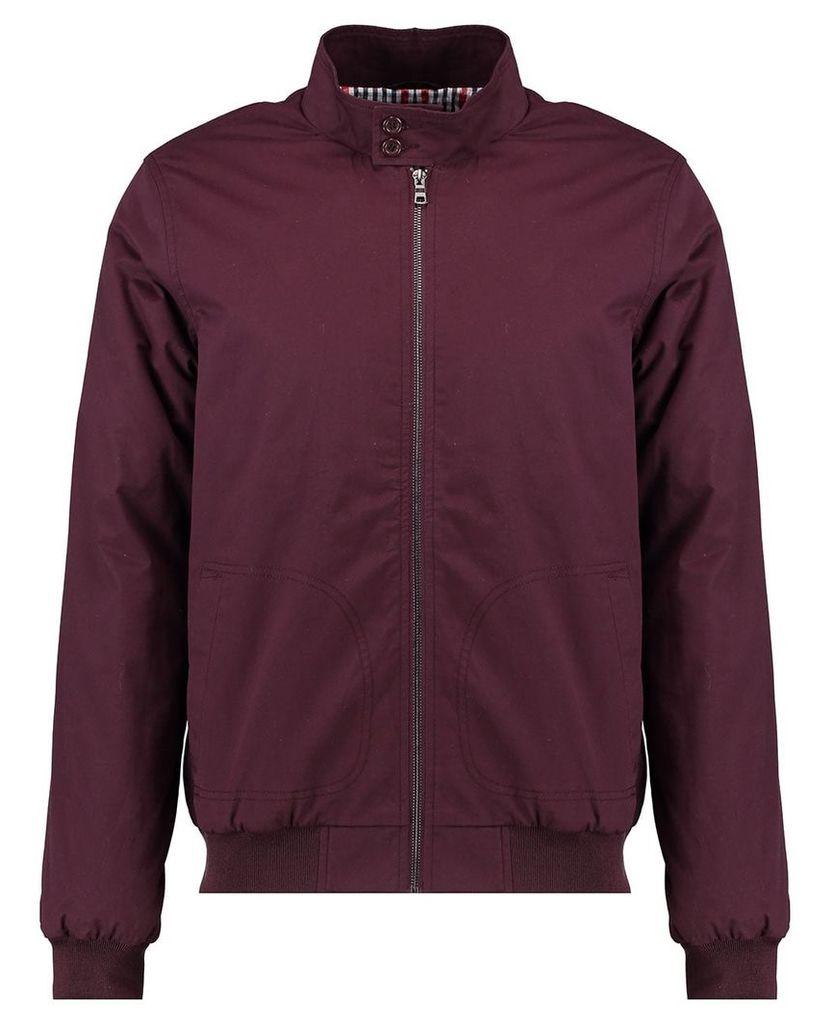 Men's Blue Inc Burgundy Padded Harrington Jacket, Red