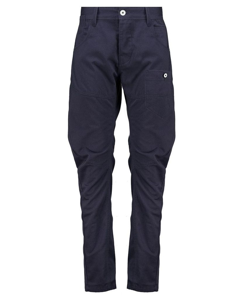 Men's Blue Inc Navy Blue Engineered Fit Utility Trouser With Cinch Back, Blue