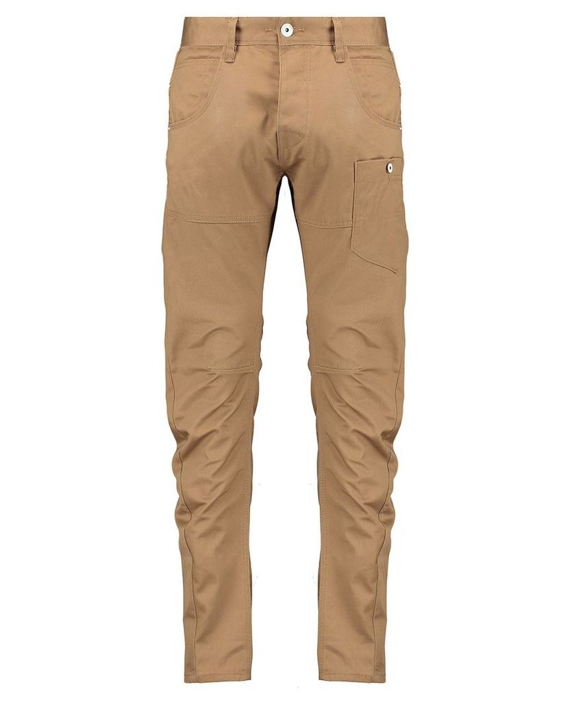 Men's Blue Inc Engineered Fit Tan Utility Pant With Cinch Back, Brown