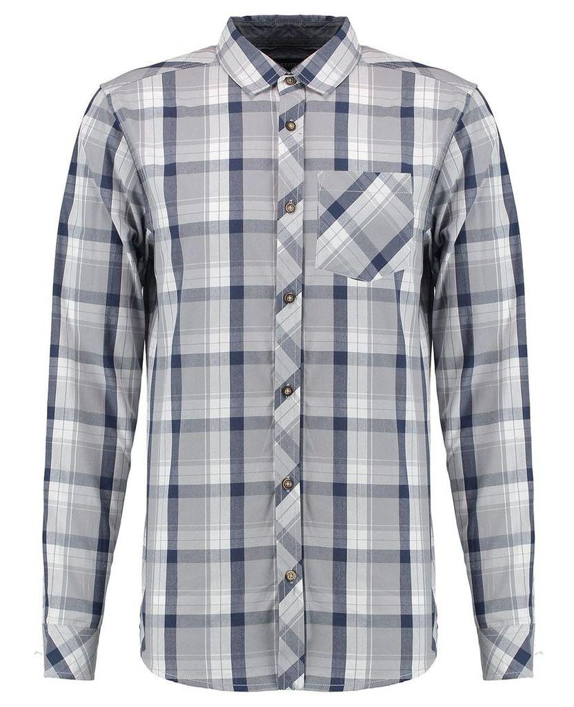 Men's Blue Inc Grey Check Shirt, Grey