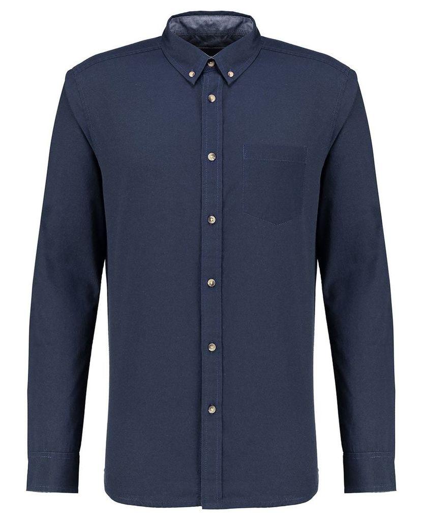 Men's Blue Inc Navy Blue Long Sleeve Oxford Shirt, Blue
