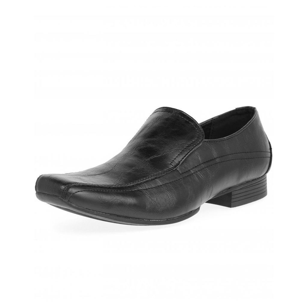 Men's Blue Inc Black Core Tramline Slip On Formal Shoes, Black