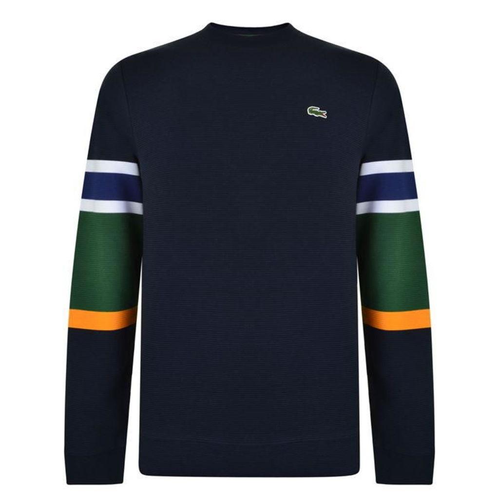 LACOSTE Colour Block Sleeve Sweatshirt