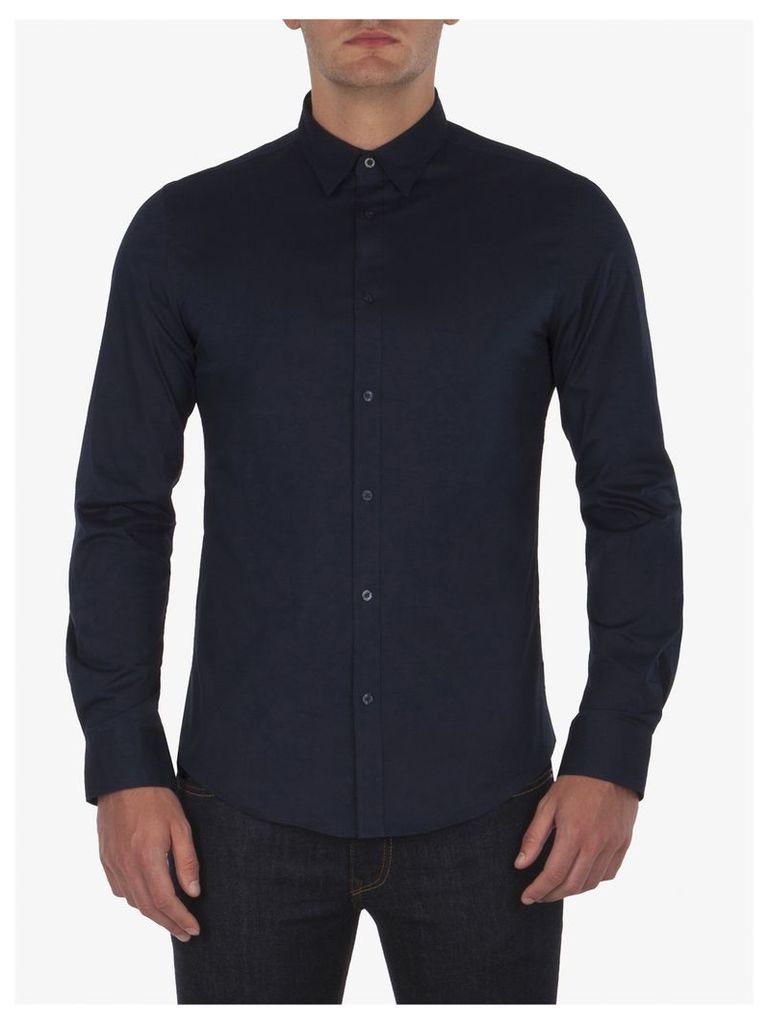 Stretch Poplin Long Sleeve Shirt Med Navy Blazer