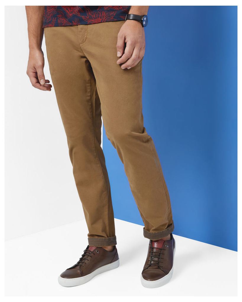 Ted Baker Classic fit chinos Dark Tan