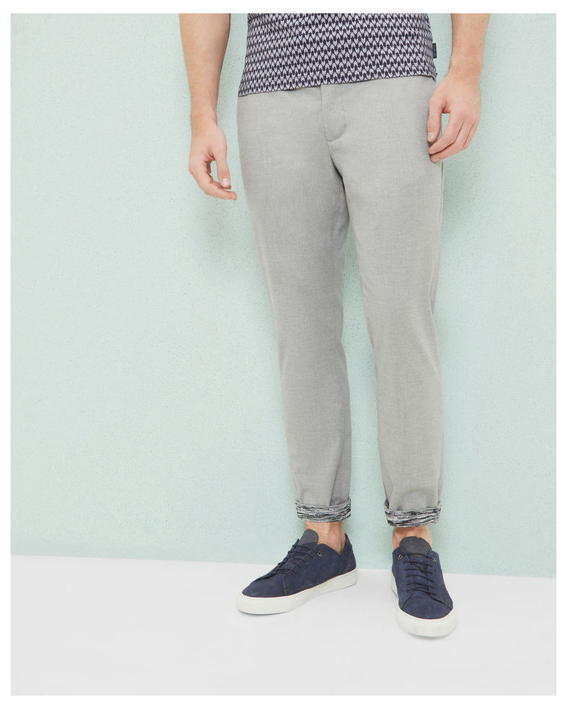 Ted Baker Slim-fit cropped trousers Light Grey