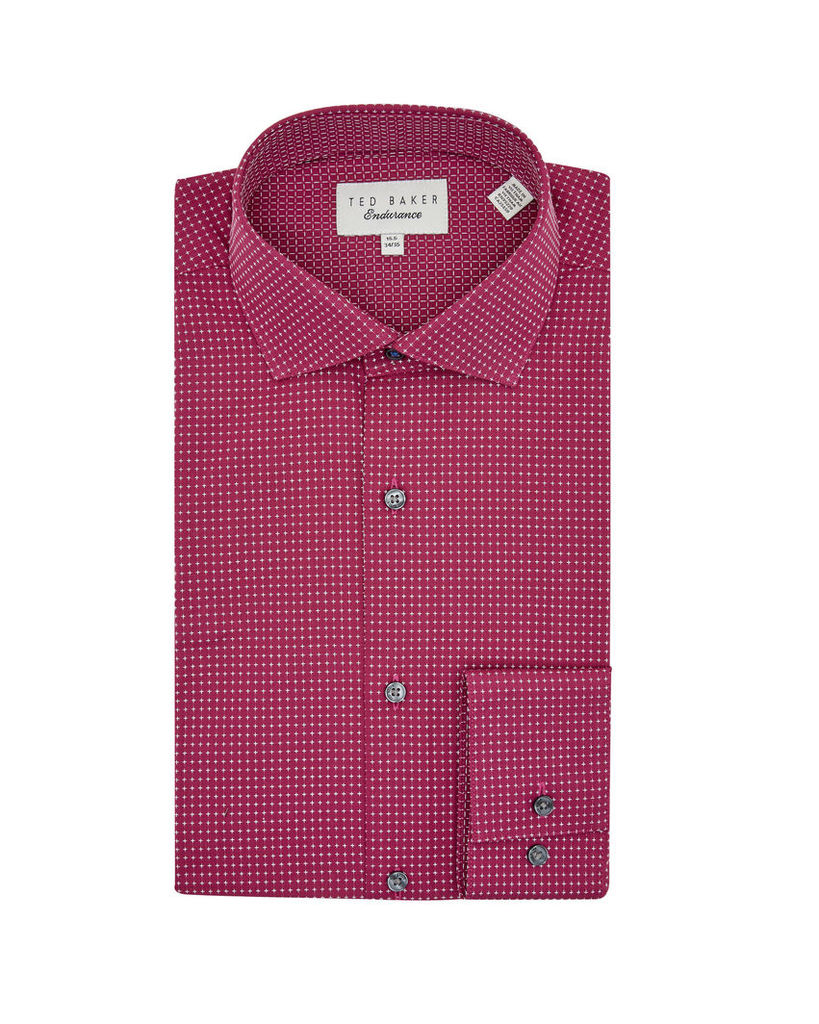 Ted Baker Geo print cotton shirt Red