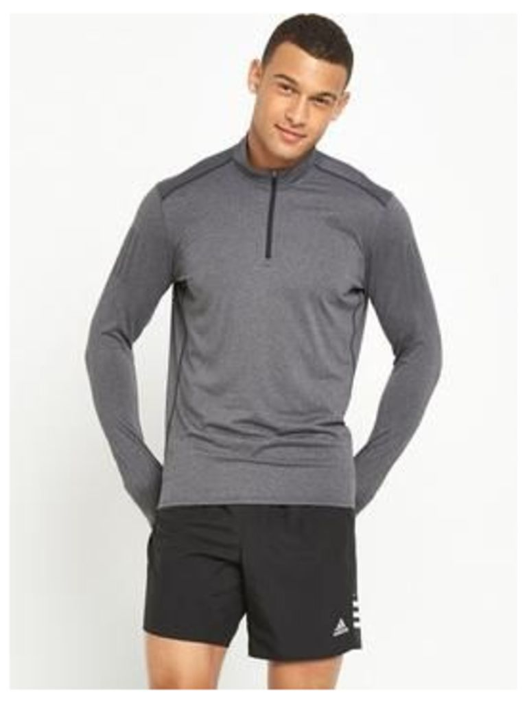 Adidas Response Long Sleeve Running Zip Top