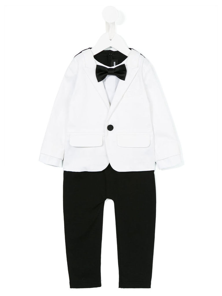 Dsquared2 Kids - suit romper - kids - Cotton/Polyester/Spandex/Elastane/Viscose - 6 mth, White