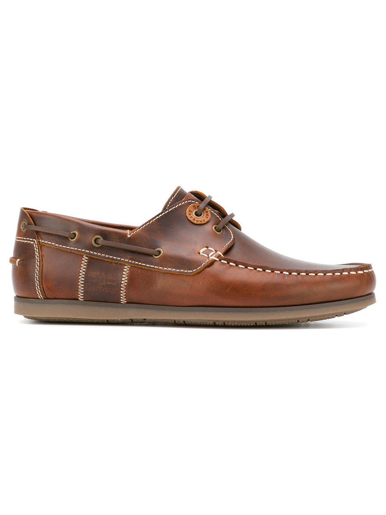 Barbour - Capstan boat shoes - men - Leather/rubber - 11, Brown