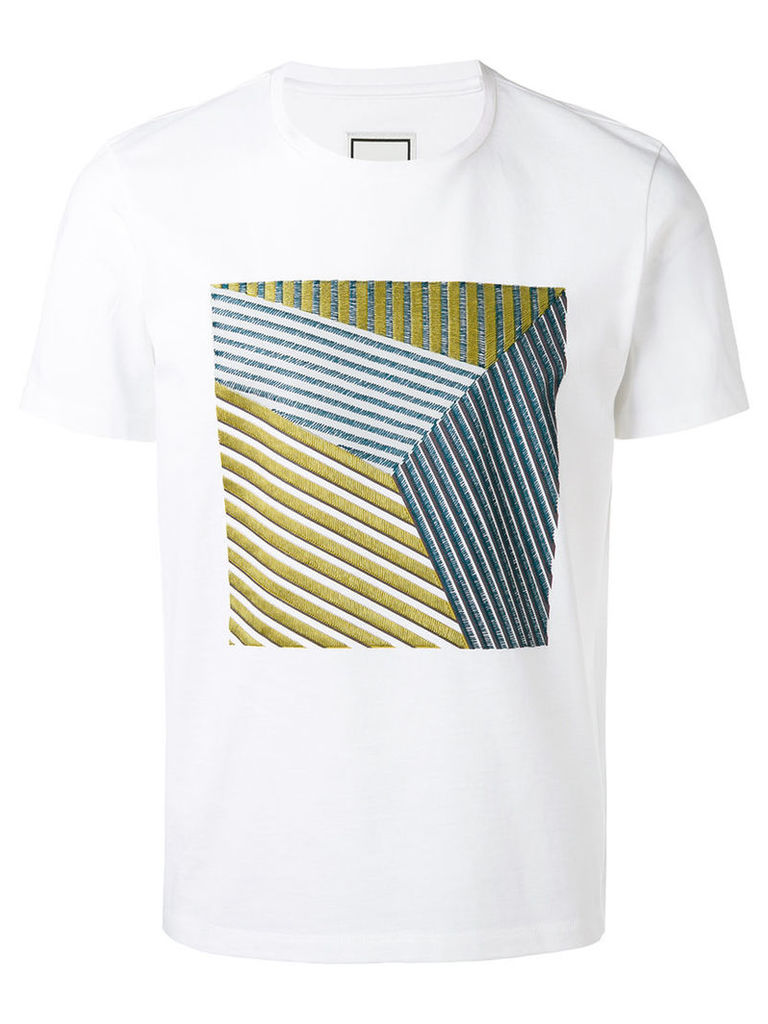 Wooyoungmi - square pattern T-shirt - men - Cotton - 52, White