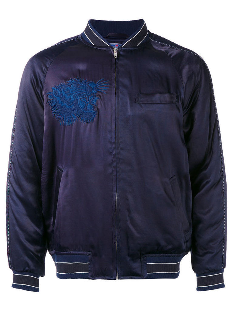 Blue Blue Japan - embroidered bomber jacket - men - Cotton/Nylon/Polyester/Rayon - L
