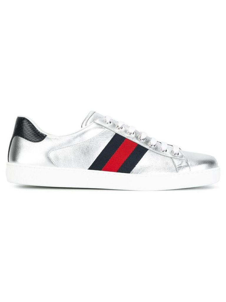 Gucci - Ace sneakers - men - Lamb Skin/Leather/rubber - 7.5, Grey