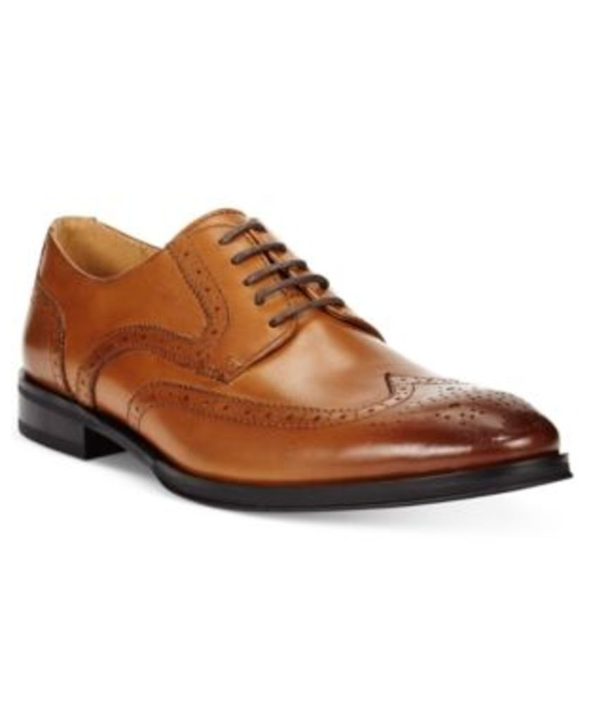 Alfani Men's Platinum Miller Wing-Tip Derbys Men's Shoes
