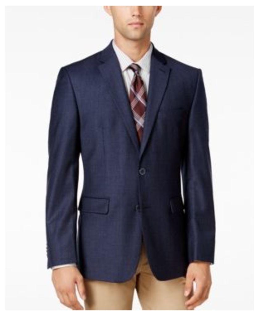Vince Camuto Men's Slim Modern Fit Blue Plaid Sport Coat