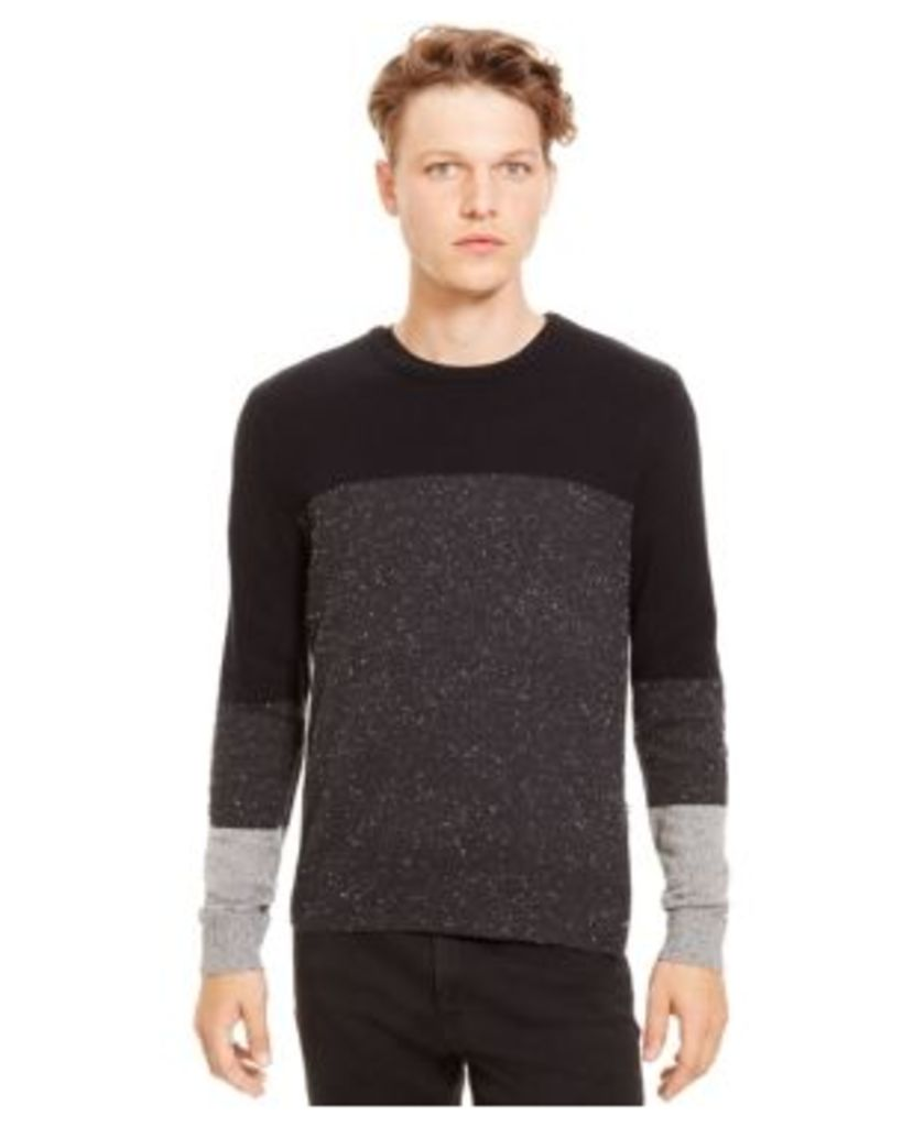 Kenneth Cole Reaction Colorblocked Black and Gray Sweater