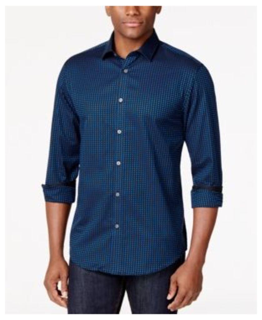 Alfani Men's Gingham Long-Sleeve Shirt, Only at Macy's