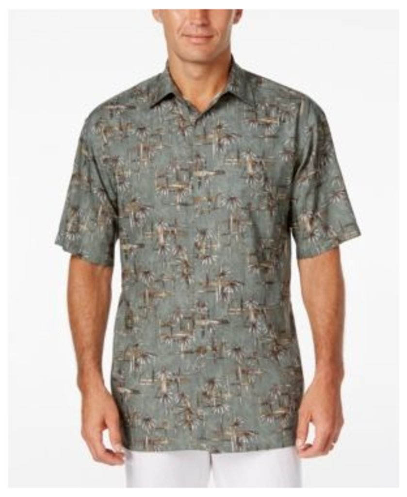 Campia Moda Men's Crosshatch Bamboo-Print Short-Sleeve Shirt