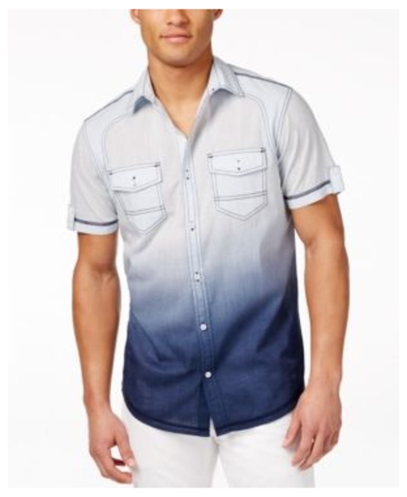 Inc International Concepts Men's Hawaii Dip-Dye Short-Sleeve Shirt, Only at Macy's