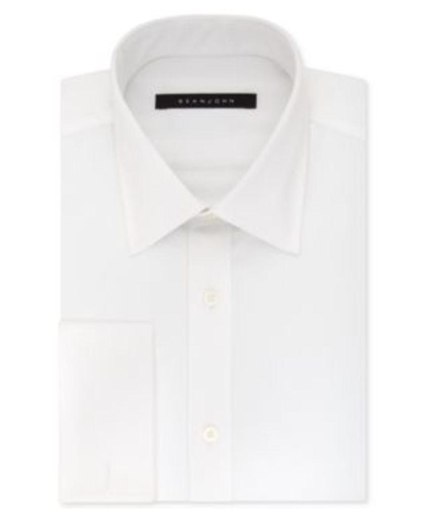 Sean John Men's Classic/Regular Fit French Cuff Dress Shirt