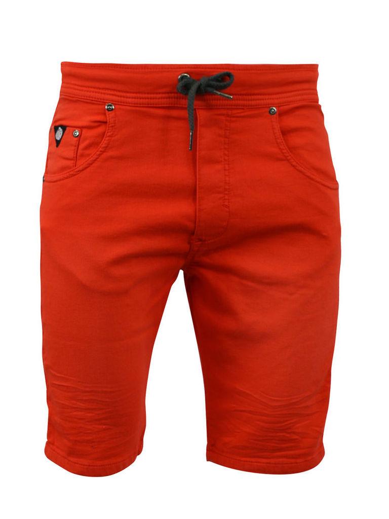 Watts Red Man Shorts Ribbs Jogg Jeans