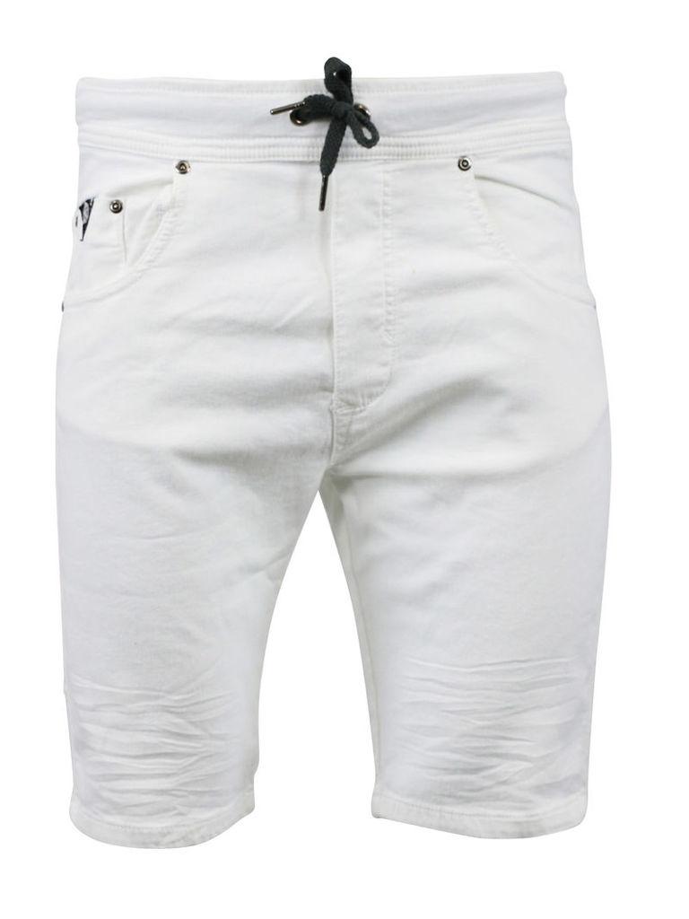 Watts White Man Shorts Ribbs Jogg Jeans