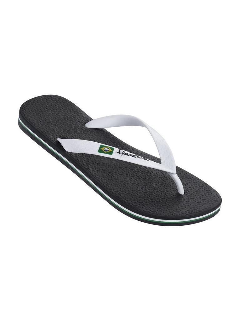 Ipanema Black and White Flip-flops Men Classica Brasil II