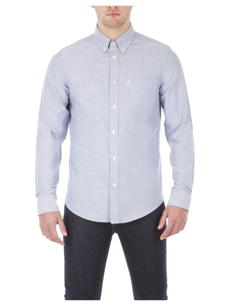 Classic Oxford Long Sleeve Shirt Med Navy Blazer