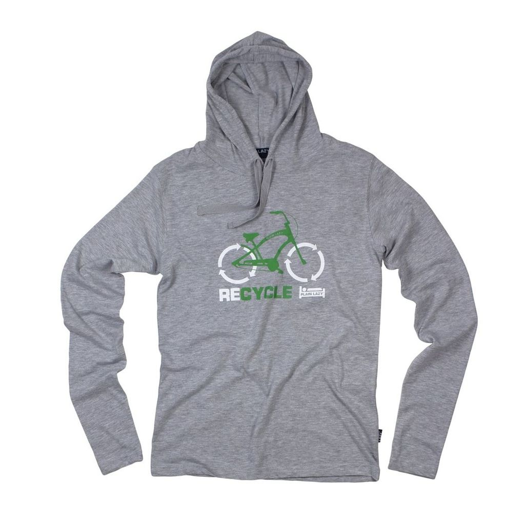 RECYCLE LONG-SLEEVED HOODED T SHIRT