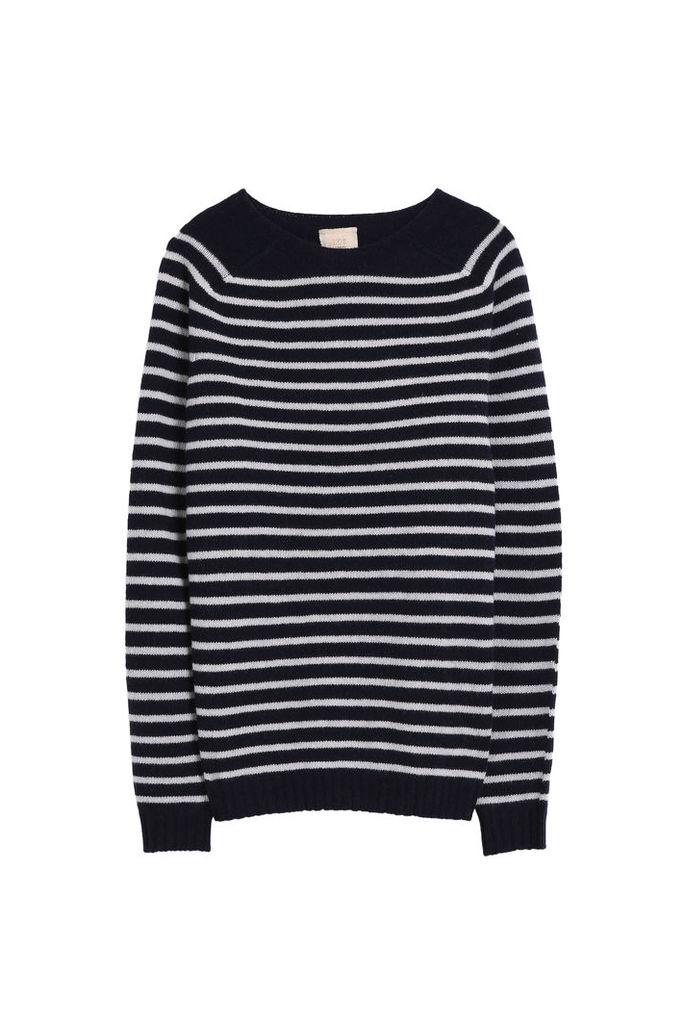 120% Lino Men`s Stripe Cashmere Sweater Boutique1