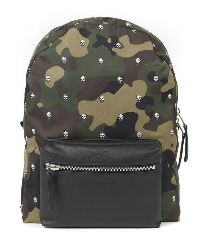 Camouflage Skull Printed Backpack
