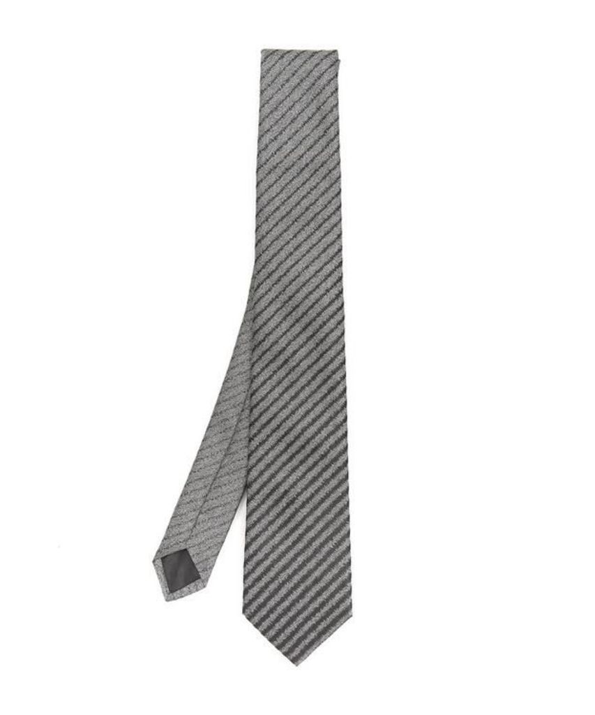 Stripe Metallic Pattern Tie