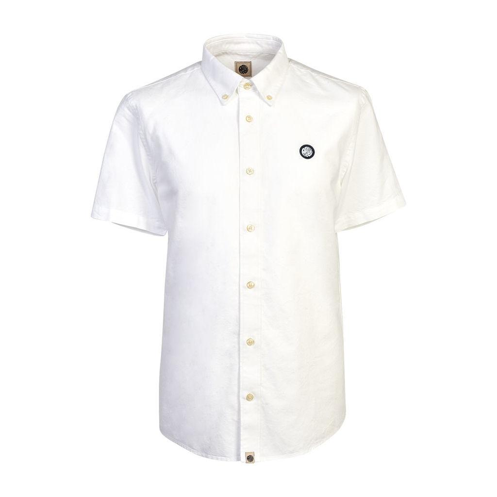 Pretty Green Men's Short Sleeve Oldbury Shirt - White - L