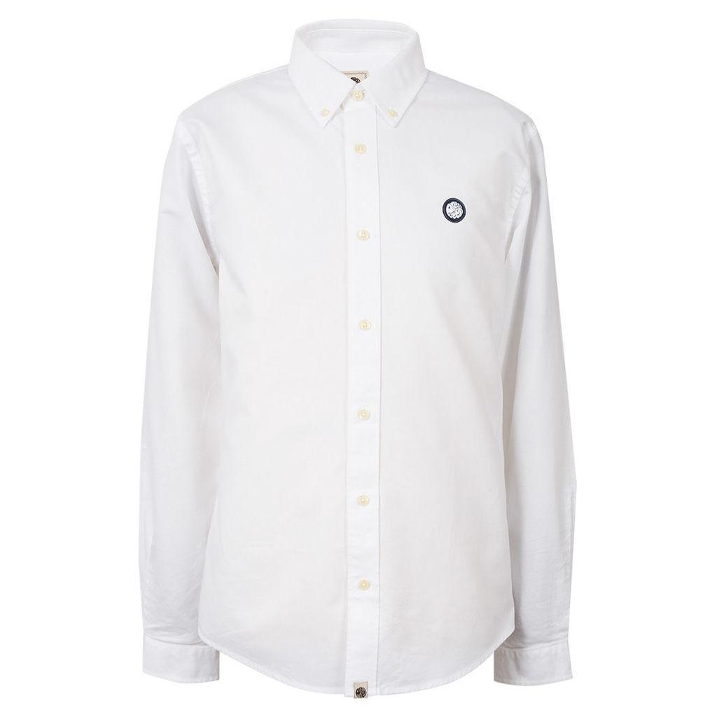 Pretty Green Men's Oldbury Shirt - White - L